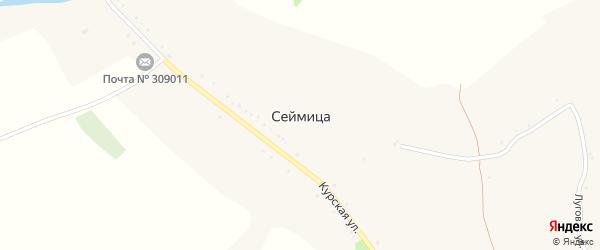 Луговая улица на карте села Сеймицы с номерами домов