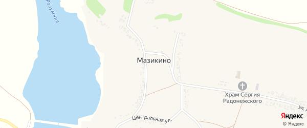 Улица Лисовенька на карте села Мазикино с номерами домов