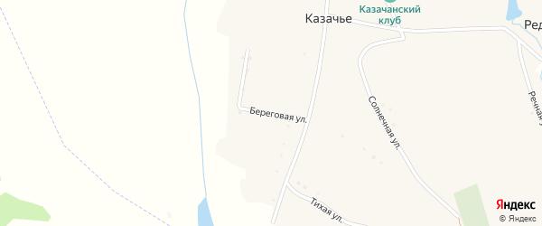 Береговая улица на карте села Казачьего с номерами домов