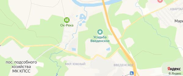 Территория 535 в/санаторий на карте Звенигорода с номерами домов