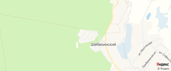 Карта Шебекинского поселка в Белгородской области с улицами и номерами домов