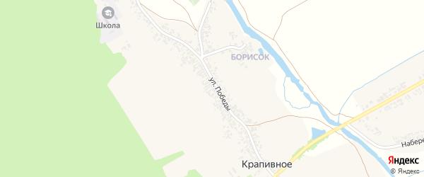 СНТ Весна на карте Крапивного села с номерами домов