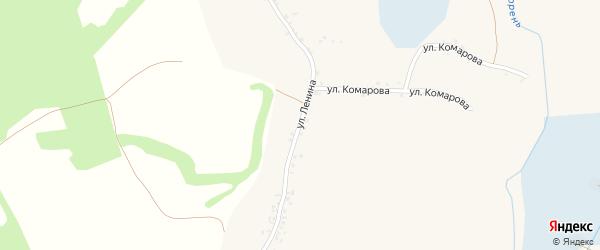 Улица Ленина на карте села Чураево с номерами домов