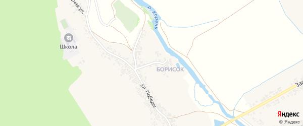 Переулок Победы на карте Крапивного села с номерами домов