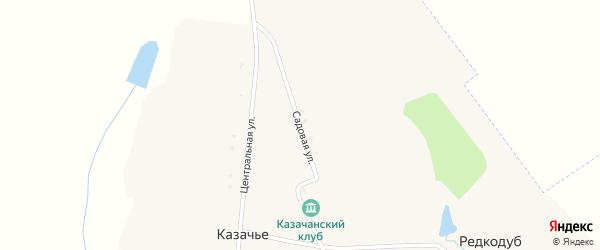 Садовая улица на карте села Казачьего с номерами домов