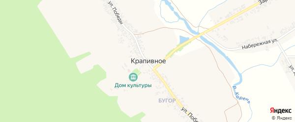 Улица Победы на карте Крапивного села с номерами домов