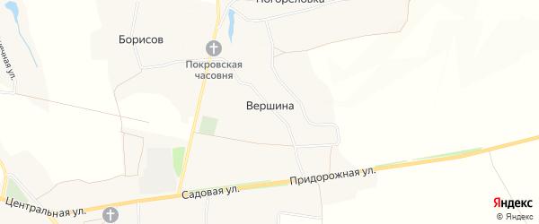 Карта хутора Вершина в Белгородской области с улицами и номерами домов
