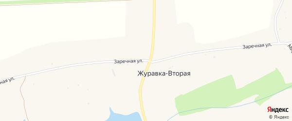 Заречная улица на карте села Журавки-Второй с номерами домов