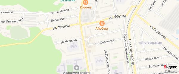 Улица Чкалова на карте Шебекино с номерами домов
