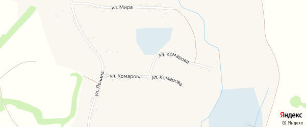 Улица Комарова на карте села Чураево с номерами домов