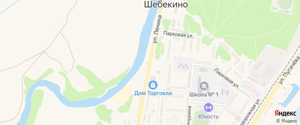 Улица Ленина на карте Шебекино с номерами домов