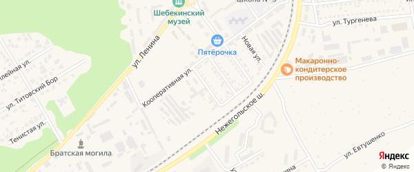 Улица Лермонтова на карте Шебекино с номерами домов