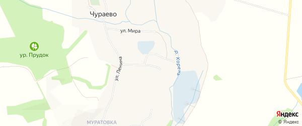 Карта села Чураево в Белгородской области с улицами и номерами домов