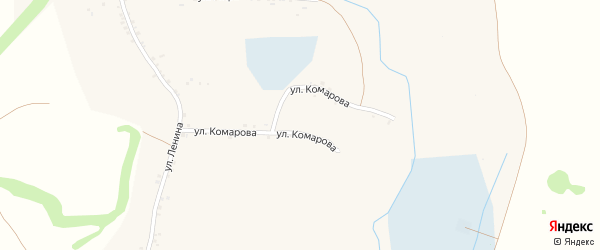 Улица Гагарина на карте села Чураево с номерами домов