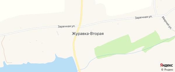 Улица Новоселов на карте села Журавки-Первой с номерами домов