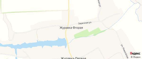 Карта села Журавки-Второй в Белгородской области с улицами и номерами домов