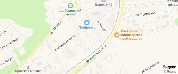 Улица Титова на карте Шебекино с номерами домов