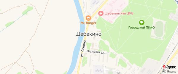 Центральная площадь на карте Шебекино с номерами домов