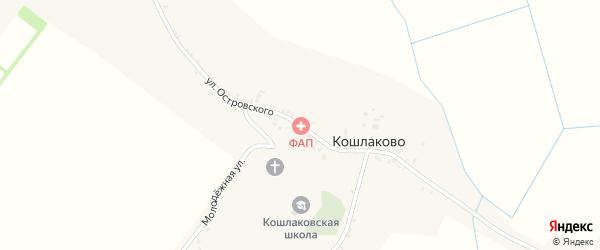 Улица Островского на карте села Кошлаково с номерами домов