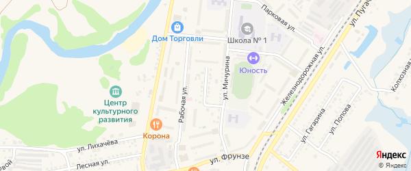 Улица Володарского на карте Шебекино с номерами домов