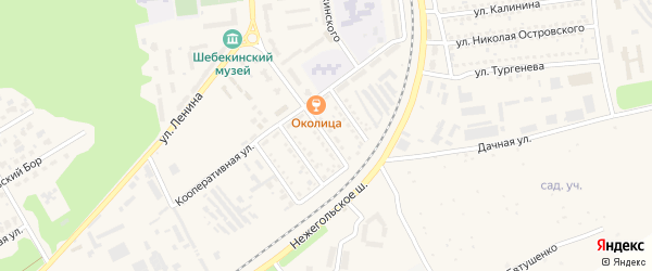 Улица Циолковского на карте Шебекино с номерами домов