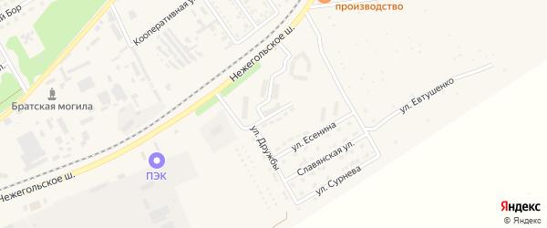 Улица Надежды на карте Шебекино с номерами домов