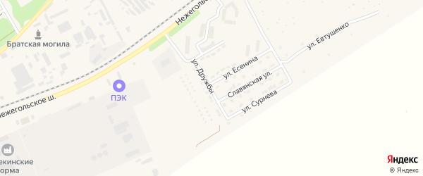 Улица Дружбы на карте Шебекино с номерами домов