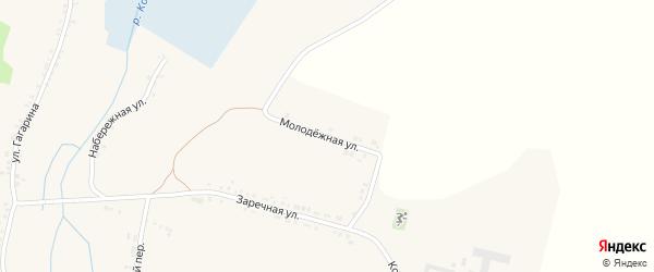 Молодежная улица на карте села Чураево с номерами домов