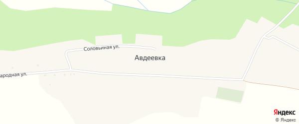 Народная улица на карте села Авдеевки с номерами домов