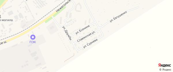 Славянская улица на карте Шебекино с номерами домов