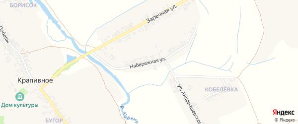 Набережная улица на карте Крапивного села с номерами домов