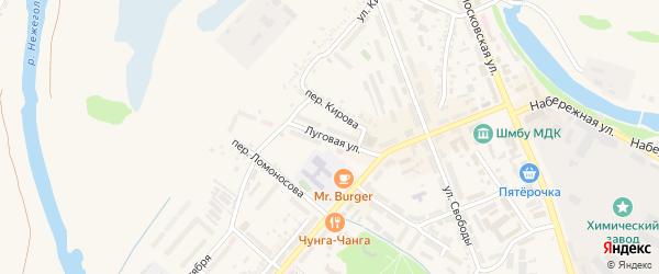 Луговая улица на карте Шебекино с номерами домов