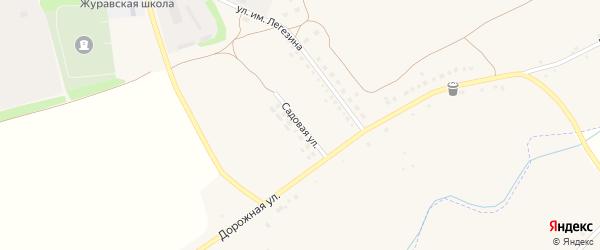 Садовая улица на карте села Журавки-Первой с номерами домов