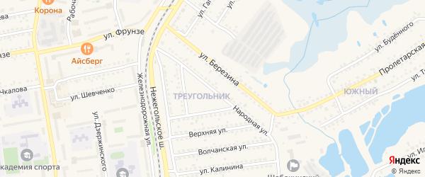 Народная улица на карте Шебекино с номерами домов
