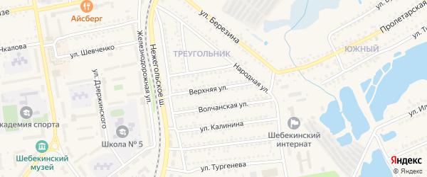 Верхняя улица на карте Шебекино с номерами домов
