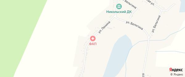 Улица Ленина на карте Никольского села с номерами домов