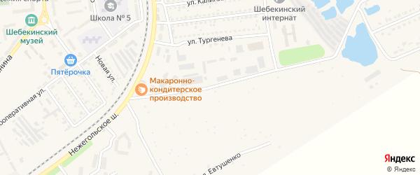 Дачная улица на карте Шебекино с номерами домов