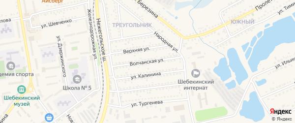 Волчанская улица на карте Шебекино с номерами домов