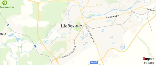 Карта Шебекино с районами, улицами и номерами домов
