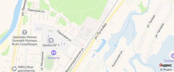 Восточная улица на карте Шебекино с номерами домов