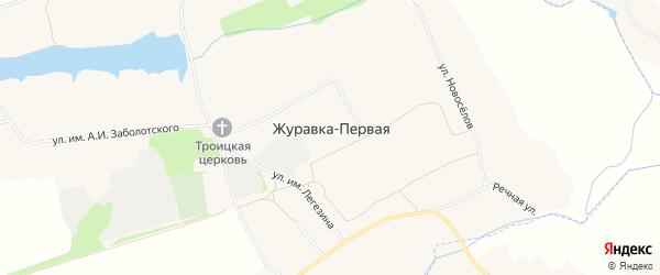 Карта села Журавки-Первой в Белгородской области с улицами и номерами домов
