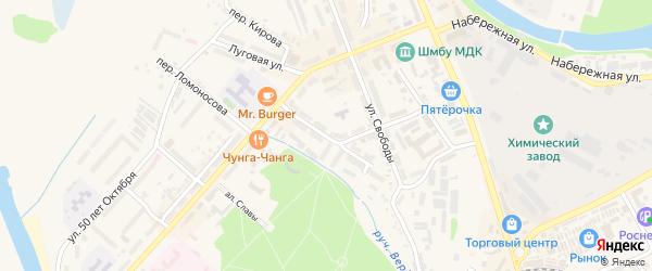 Улица Б.Хмельницкого на карте Шебекино с номерами домов