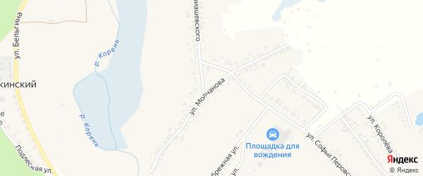Улица Молчанова на карте Шебекино с номерами домов