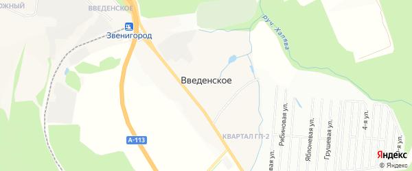 Карта Введенского села города Звенигорода в Московской области с улицами и номерами домов