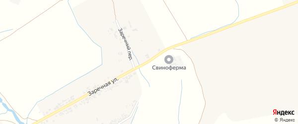 Заречная улица на карте Крапивного села с номерами домов