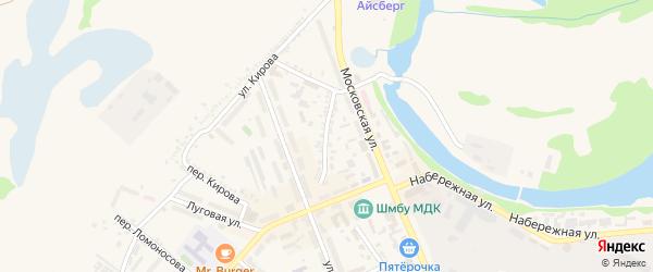 Коммунальный переулок на карте Шебекино с номерами домов