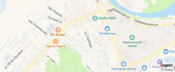 Улица Свободы на карте Шебекино с номерами домов