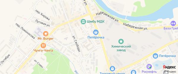 Улица К.Маркса на карте Шебекино с номерами домов