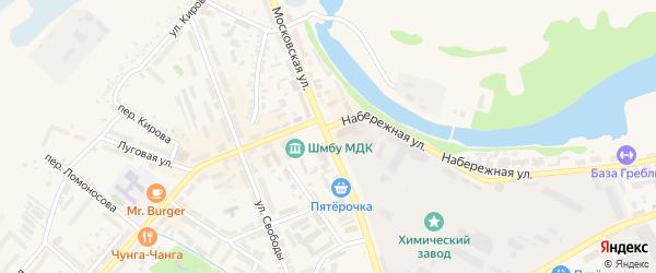 Московская улица на карте села Стариково с номерами домов