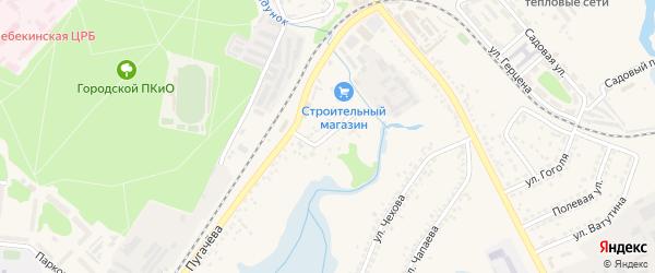 Песочная улица на карте Шебекино с номерами домов